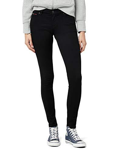 Tommy Jeans Damen MID RISE SKINNY NORA DNBST Skinny Jeanshose, Schwarz (DANA BLACK Stretch 945), W29/L30