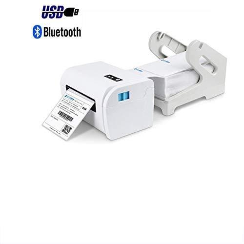 Imprimante Avec Support D'étiquettes, Étiquettes De Codes À Barres Imprimante Thermique, Compatible Avec L'ordinateur Et Le Téléphone Portable, Bluetooth Et Connexion USB