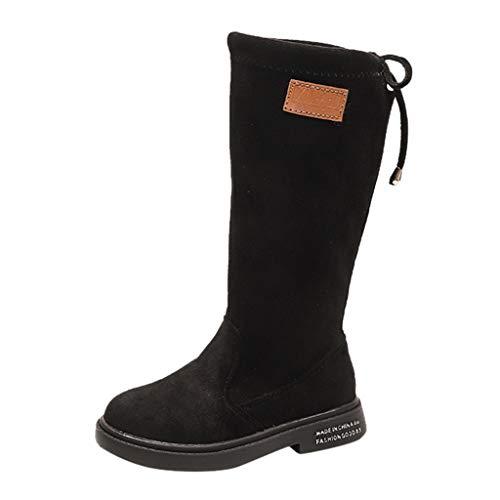 WEXCV Kinder Lange Boots Stiefel Winterstiefel für Baby Mädchen Stiefeletten Warme Kinderschuhe Outdoor Herbst Winter Kleinkinder Schuhe Lauflernschuhe