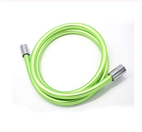 Tubo doccia flessibile in PVC verde 40CM / 100CM / 150CM / 200CM per tubo idraulico del bagno con soffione a mano, antideflagrante e anti-avvolgimento.-40CM