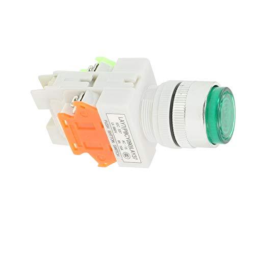 Aexit 660VAC 10A 1NO 1NC DPST Grün Momentary Push Button Schalter w 220V LED-Lampe (3ecfc9ce203ba67e1572ef486f98b7fc)