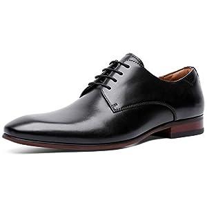 [ロムリゲン] ビジネスシューズ メンズ 革靴 本革 高級紳士靴 プレーントゥ フォーマル 外羽根 ブラック 26.0cm 8916-21
