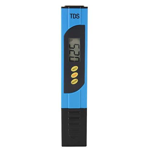 PHILED TDS Tester, LCD Digital 2in1 Temp PPM Misuratore, Range 0-9999ppm Tester di qualità dell'Acqua per Acqua Potabile, idroponica, Piscine per acquari e Altro