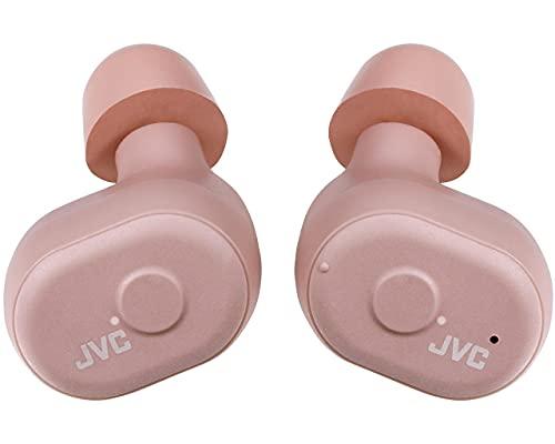 JVC HA-A10T-P-E. Auriculares Truly Wireless. hasta 14h de batería. Asistente de Voz. Almohadillas adaptables. Ajuste Seguro y cómodo. Estuche/Cargador Incluido. Color Rosa
