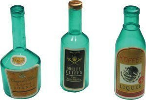 Mini Liquor Bottles - Cupcake Toppers/Cake Decorations - 12 pc