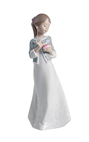 NAO 02001588 Dekofigur/Porzellanfigur A Gift From The Heart, Mädchen mit Geschenk