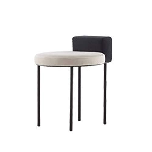 N/Z Daily Equipment Chair Nordischer moderner minimalistischer Stuhl Schminktisch aus Edelstahl Make-up-Hocker Schminktisch für den Raum (Farbe: Schwarz Größe: 37x35x56cm)