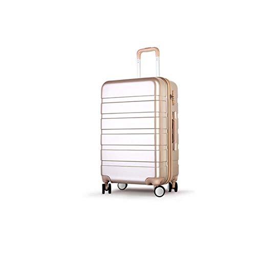 Koffertrolley voor dames, wachtwoord, kofferbak, 50,8 cm, kleur: champagne, goud, maat: 57,5 cm