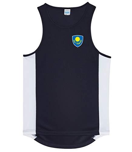Nation Kasachstan Trikot Tank Top Athletic Sport Gym ATH BR-SC (L)