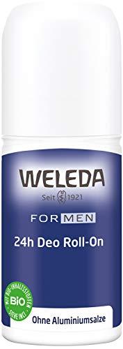 WELEDA Herren 24h Deo Roll-on, Naturkosmetik Deodorant mit einem herben Duft und Frische, wirksamer Schutz vor Körpergeruch, 24 Stunden zuverlässig ohne Aluminium (1 x 50 ml)
