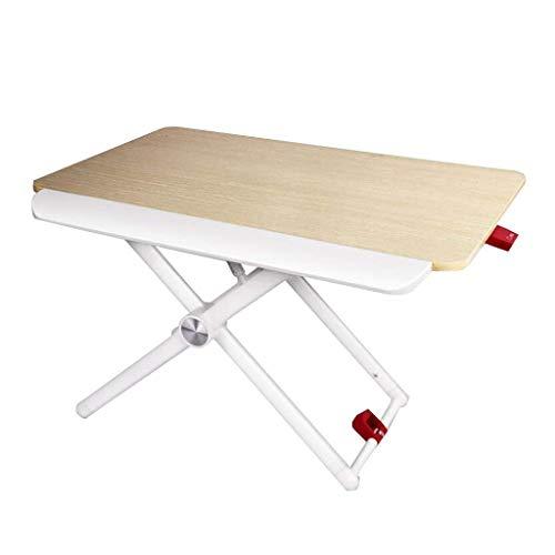 Dator Arbetsstationer Ståbord Sit-Stand Höjd Justerbar Skrivbordlyft Bärbar dator Nattbord Mobil Arbetsbänk Fem-stegslyft kan bära 20 kg
