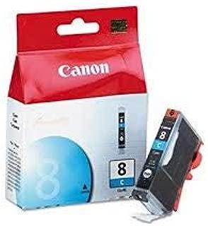 Canon, OEM 0621B002 CLI-8C Cyan Ink Tank iP3300 iP3500, iP4200 iP4300 iP4500 iP5200 iP5200R iP5300 iP6600D iP6700D iX4000 iX5000 MP500 MP510 MP520 MP530 MP600 MP600R MP610 MP800 MP800R