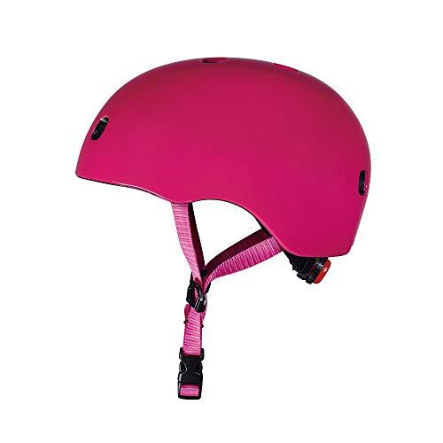 Micro - Casco para Patinete/Bicicleta (S, Raspberry)
