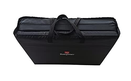 BabyDan Extra Thick Deep Padded Travel Cot Mattress (60 x 120cm x 5cm) Black, 1083-60-75