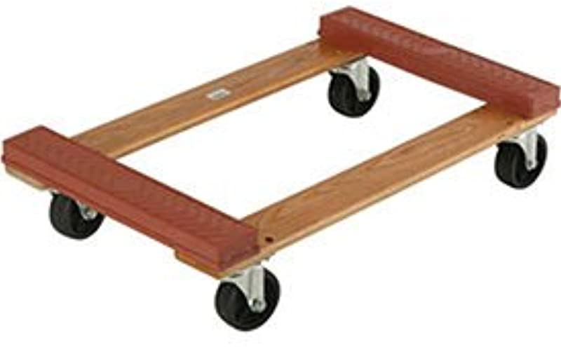 Hardwood Dolly Rubber Bumpered Ends Deck 30 X 18 1200 Lb Capacity