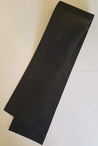 Gummistreifen 10cm breit - Dicke (1mm, 2mm, 3mm, 4mm) und Länge (10cm bis 120cm) wählen | Gummiunterlage Gummimatte (120cm, 4mm)