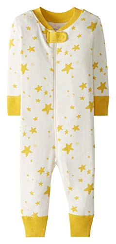 Moon and Back by Hanna Andersson One Piece Footless Pajamas Infant-and-Toddler-Sleepers, Medium Yellow, 3 Years