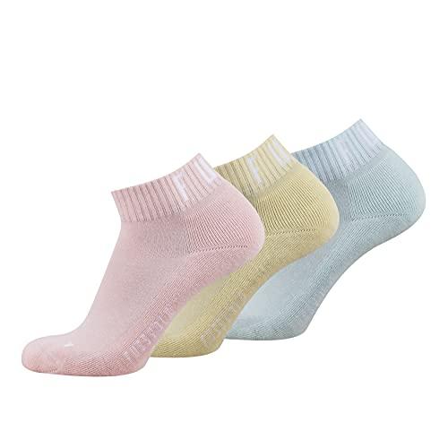 Fussvolk Quarter Socks 3 Pack Box pastell - Sneakersocken für Sport & Freizeit, unisex, 39 – 42, knöchelhoch, elastisch & weich mit Frottee