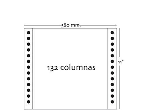 Fabrisa 145472 - Pack de 2500 hojas de papel continuo, color azul