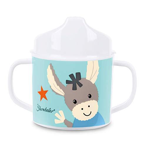 Sterntaler 6842000 Taza con asas y accesorio para beber, Burro Emmi, Edad: para bebés a partir de 6 meses, Multicolor