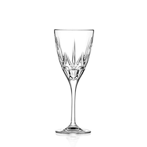 RCR 26231020006 Chic Luxion Crystal White Wine Glasses, 280 ml, Set of 6, Cristal, 6