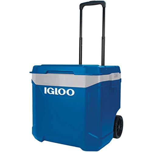 Igloo Nevera portátil Latitude 57 litros Roller Azul Ruedas, Camping-Deportes, 56x45x51