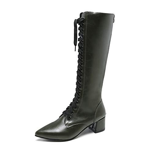 Shukun laarsjes boots Children's wintergepointed lakken locomotief laars handsome hoge boots dames