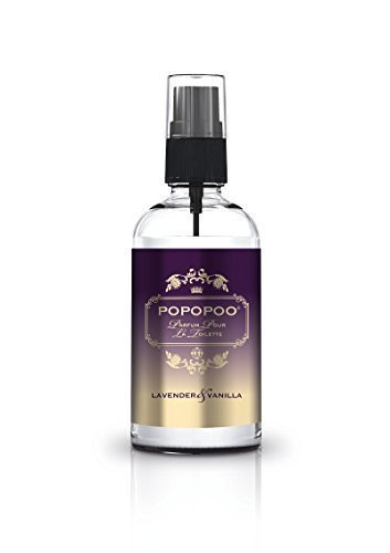 POPOPOO 100ml Toilettenspray Toilettenparfum gegen Toilettengerüche - Lavendel Vanille Duft - Geruchsneutralisierer, Raumspray für die Toilette, WC, Gäste-WC, Bad, Badezimmer, auf Arbeit, im Büro, Urlaub - Vermeidet Gerüche bevor sie entstehen! …