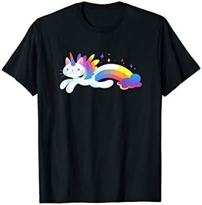 Unicorn Kitty Rainbow T Shirt Flying Unicat Caticorn product image