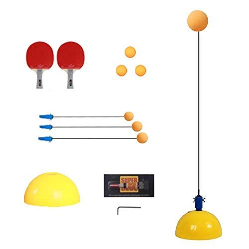 Tafeltennis Trainer Met Elastische Zachte Schacht Ping Pong Ball Set Voor Beginer Kid Kinderen, Single Practice Verlicht…