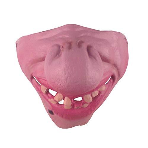 Bozales Para Perros Perro Enmascarado Duradero Máscara De Halloween Máscara Duradera Bozal Para Mascotas Broma Kidding Látex Perro Juguetes Divertidos Máscara De Media Cara Accesorios Para Masc