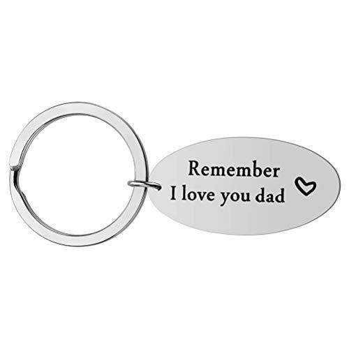 Urisgo Recuerde I Love You Letters Llavero Llavero de Acero Inoxidable Anillo Día de la Madre/Regalo del día del Padre