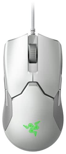 Razer Viper Mercury White ゲーミングマウス 軽量 69g 16000DPI 8ボタン 光学スイッチ 柔らかい布巻ケーブル Chroma対応 【日本正規代理店保証品】 RZ01-02550700-R3M1