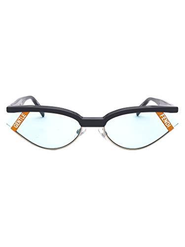Luxury Fashion | Fendi Heren FF0369S62KB71P Blauw Metaal Zonnebrillen | Seizoen Permanent