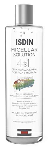 ISDIN Micellar Solution 4 en 1 Agua Micelar, Limpia, Desmaquilla, Hidrata y Tonifica, 400ml