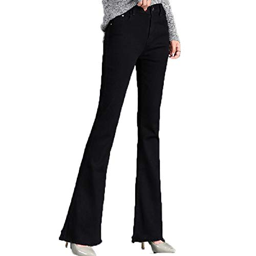 UHFIA Waist Wide Leg Pants for Women LIM Micro Flared Jeans Women Flared Pants Black
