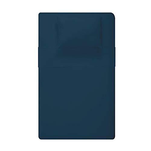 Galileo Casa 5900368 Bettwäschegarnitur für Einzelbett, Baumwolle, NO blau