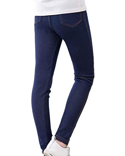 Leggings Elástico para Niñas Chicas Jeans de Imitacion Color Sólido Cómodo Pantalones Lápiz