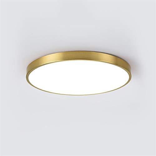 AXWT Luces del Pasillo del Pasillo Luces Redondas Modernas de 8W LED, lámpara de Techo de 20 cm, lámpara de Techo, Dormitorio, Sala de Estar, Pasillo, Cobre Ultrafino [Clase de energía a]