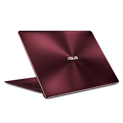 ASUS ZenBook S UX391UA-XB71-R Ultra-thin and light 13.3-inch Full HD Laptop, Intel Core i7-8550U, 8GB RAM, 256GB M.2 SSD, Windows 10 Pro, FP Sensor, Thunderbolt, Burgundy Red