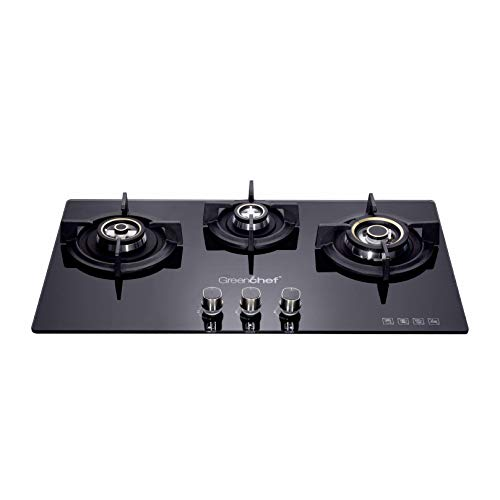 Greenchef GHT HOB Auto Ignition Glass Top Gas Stove (3 Burner)