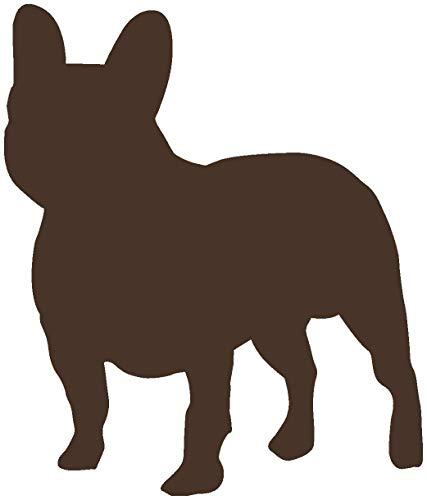 Samunshi® Französische Bulldogge als Wandtattoo in verschiedenen Farben und Größen - Hunde Aufkleber in 10 Größen und 25 Farben (94x110cm braun)