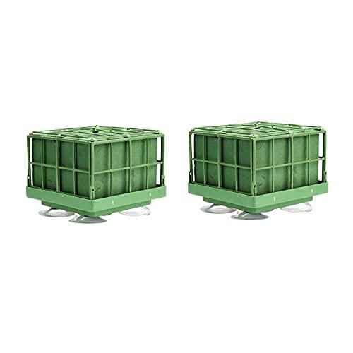 Atroy Juego de 2 piezas de espuma húmeda seca para floristería, bloque de espuma verde redondo para flores artificiales, flores de pasillo de boda, decoración de fiesta