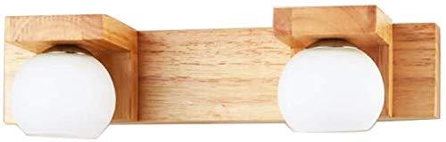Decorative Wandlamp spiegel voorlamp bed slaapkamer woonkamer studie trappenhuis corridor for houten muur Lamp (Kleur: 3 Licht), Kleur: 2 Light (Color : 2 Light)