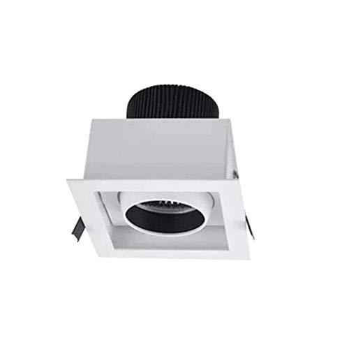 Raelf 1 paquetes Negro Cuadrado Empotrado Empotrado Downlight 3-15W LED Iluminación, COB...