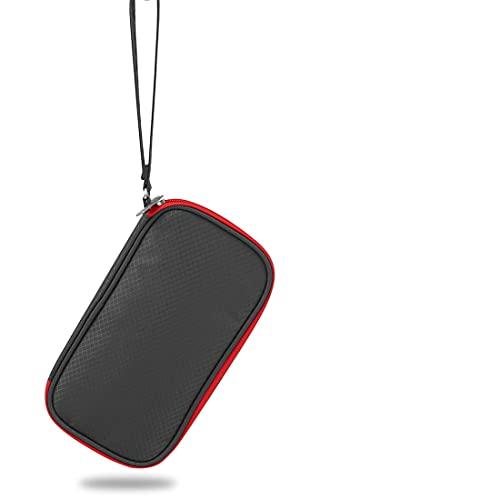 hongweifd Organizadores electrónicos Almacenamiento de cables de viaje, accesorios electrónicos Fundas para cable, cargador, teléfono, USB, tarjeta SD (rojo)