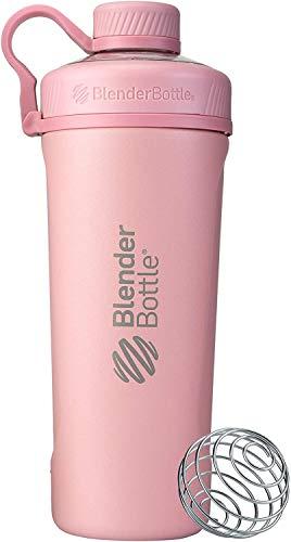 BlenderBottle Radian Insulated Stainless Steel Shaker Bottle, 26- Ounce, Rose Pink