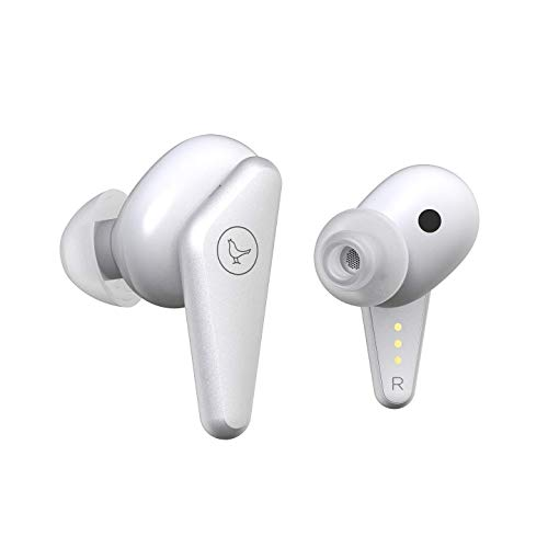 Libratone Track Air True Wireless In-Ear Kopfhörer (32h Akku – 8h Kopfhörer/24h Ladecase, Schweiß-/Spritzwasserschutz IPX4, Bluetooth 5.0, geräuschisolierend) weiß