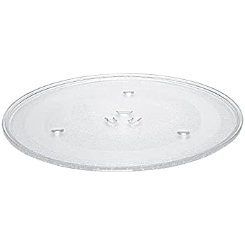 AMI PARTS WB39X10003 12.5  Microwave Glass Plate/Microwave Glass Turntable Tray Replacement - 12 1/2 Inches Compatible with G.E&Samsung-Replaces WB39X10002 WB48X10005