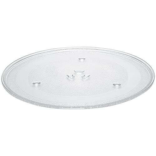 """AMI PARTS WB39X10003 12.5"""" Microwave Glass Plate/Microwave Glass Turntable Tray Replacement - 12 1/2 Inches, Compatible with G.E&Samsung-Replaces WB39X10002 WB48X10005"""